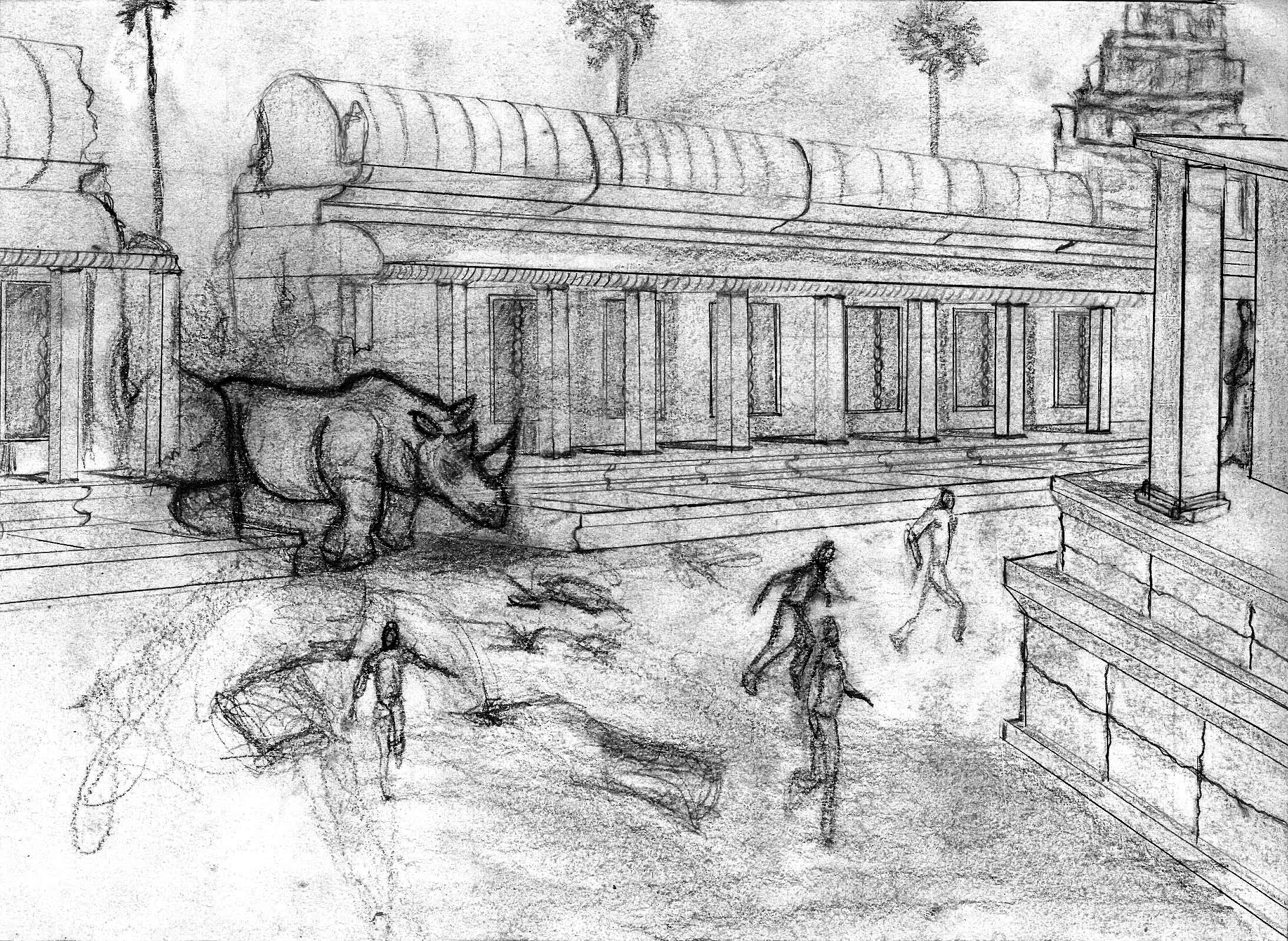 The Rhinopocalypse takes place in Angkor Wat! The Rhinopocalypse takes place in lots of places!