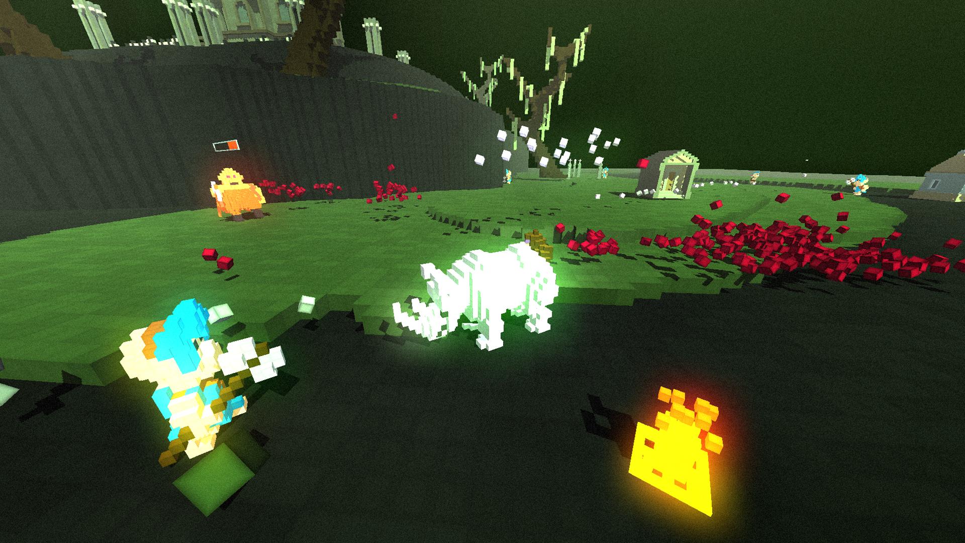 Gameplay: 3D action-RPG focused on charging through enemies